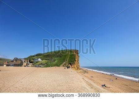 Jurassic Coast Cliff And Beach In Bridport, Dorset, Uk