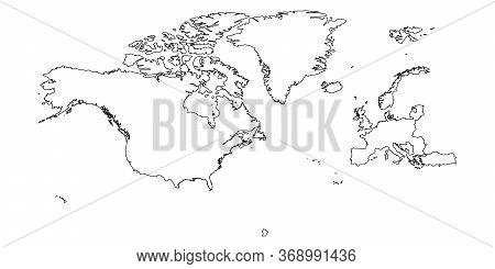 North Atlantic Treaty Organization, Nato, Member Countries Silhouette Map