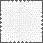 Jigsaw puzzle with 200 pieces, vector eps10 illustration poster