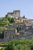Panoramic view of Soriano nel Cimino. Lazio. Italy. poster