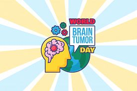 World Brain Tumor Day Background For Poster, Card