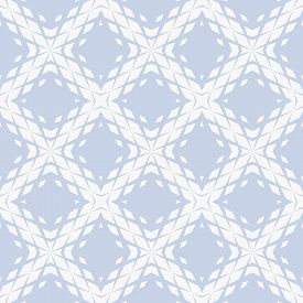 Vector Geometric Seamless Pattern With Fading Rhombuses, Diamonds, Grid, Repeat Tiles. Halftone Grad