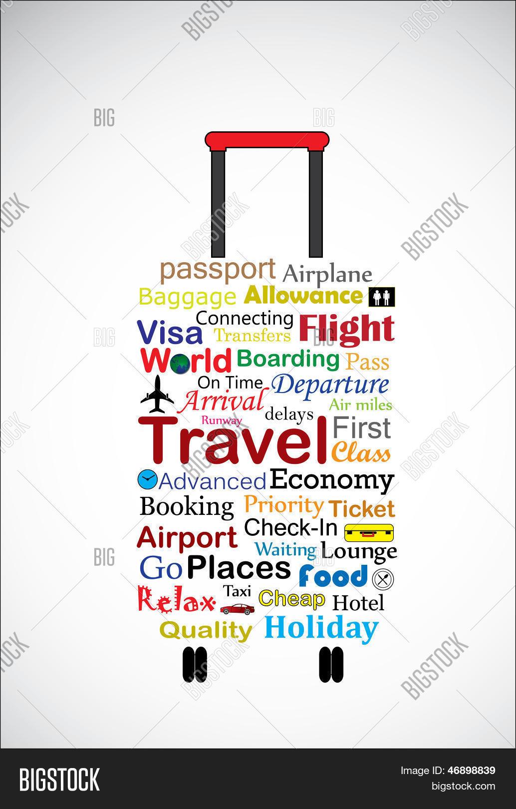 Universal Travel Bag Concept Vector & Photo   Bigstock