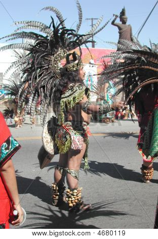 Aztec Dancer In Celebration