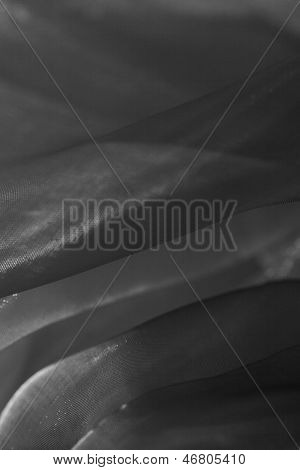 Woven Monochrome Folded Voile Fabric Backdrop.