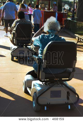 Seniors On Motorized Scooters
