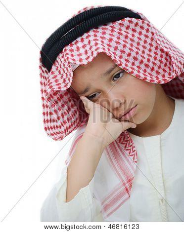 Little Arabian boy portrait poster