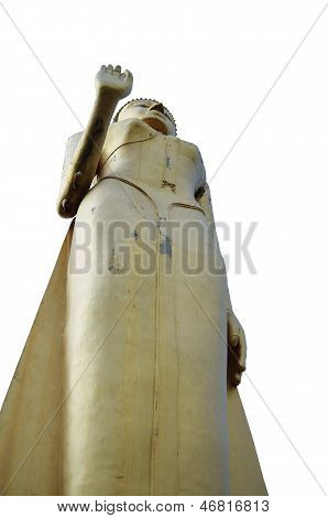 Standing Buddha Image,attitude Of Persuading The Relatives Not To Quarrel