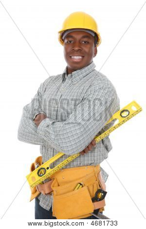 African American Construction Man