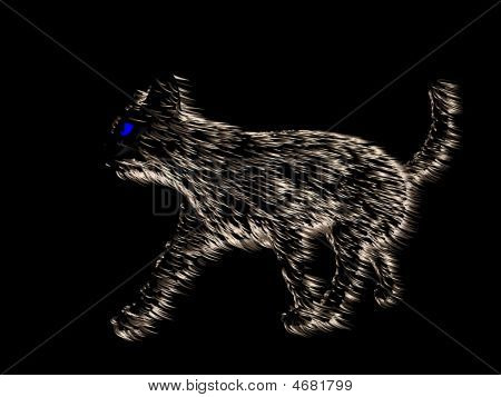 Abstract Siamese Cat