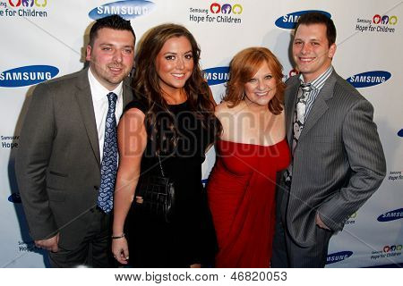 NEW YORK-MAY 29: (L-R) Christopher Manzo, Lauren Manzo, Caroline Manzo and Albert Manzo attend the Samsung Hope for Children gala at Cipriani Wall Street on June 11, 2013 in New York City.