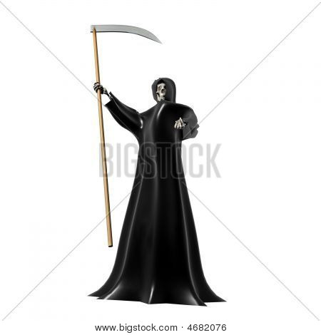 Grim Reaper On White