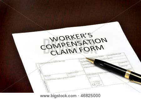 Worker compensation form for employment related injury or damage poster