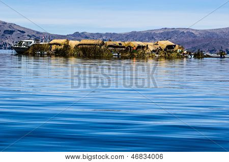 Uros Floating Islands Lake Titicaca Peru . poster