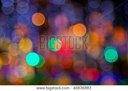 Colorful light blurs