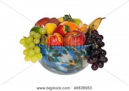 Colorful Glass Bowl With Fruits