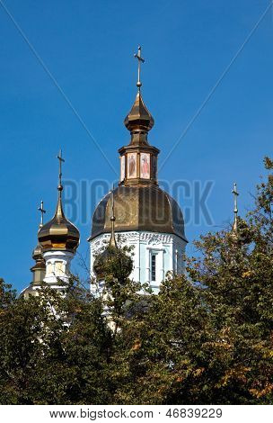 Cathedral of the St. Intercession orthodox Monastery in Kharkiv, Ukraine