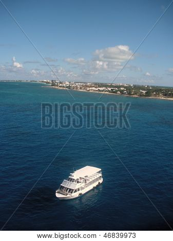 Water taxi off Grand Cayman