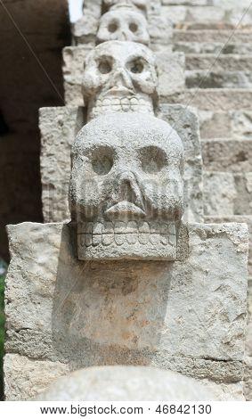 Skulls At Xcaret