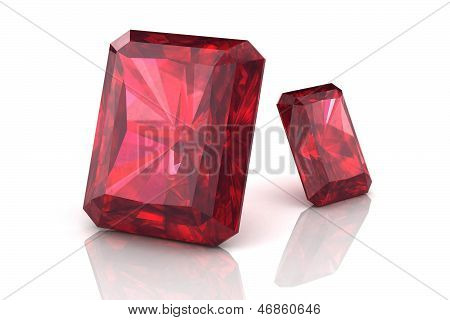 Ruby Or Rodolite Gemstone