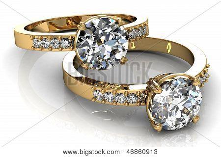 El anillo de boda de belleza