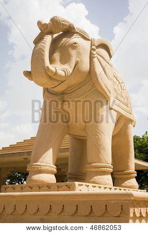 Elephant Statue In Jain Temple