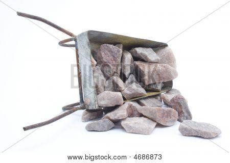 Old Metal Weelbarrow That Tilded Over