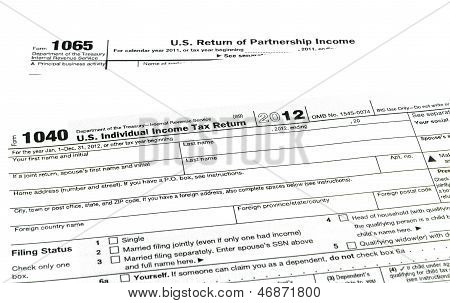 Tax Forms 1040,1065