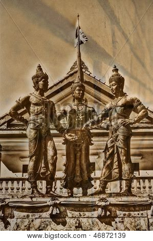 Three Kings Monument, Chiang Mai