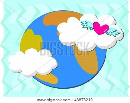 Mother Earth with a Loving Heart