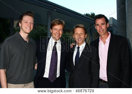 LOS ANGELES - JUN 15:  Harrison Wagner, Jack Wagner, Brad Bell, Michael Minnis attend The LLS 2013 Gala at the Skirball Center on June 15, 2013 in Los Angeles, CA