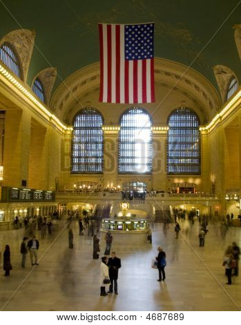 View of the interior of the Grand Central Station in New York. poster