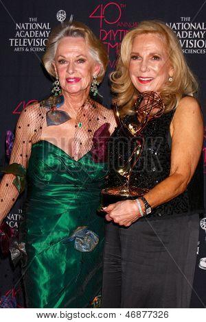 LOS ANGELES - JUN 14:  Tippi Hedren, Judy Blye Wilson attends the 2013 Daytime Creative Emmys  at the Bonaventure Hotel on June 14, 2013 in Los Angeles, CA