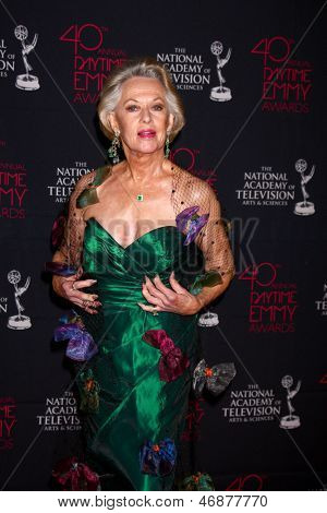 LOS ANGELES - JUN 14:  Tippi Hedren attends the 2013 Daytime Creative Emmys  at the Bonaventure Hotel on June 14, 2013 in Los Angeles, CA