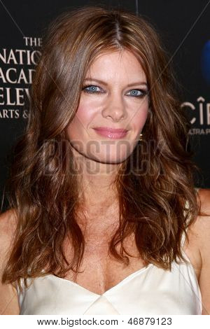 LOS ANGELES - JUN 16:  Michelle Stafford arrives at the 40th Daytime Emmy Awards at the Skirball Cultural Center on June 16, 2013 in Los Angeles, CA