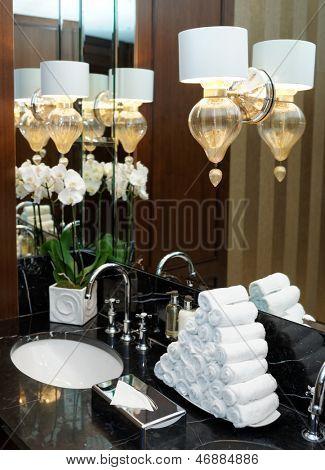Restroom in hotel or restaurant, detail