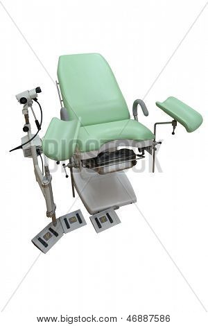 gynaecologist chair isolated under the white background