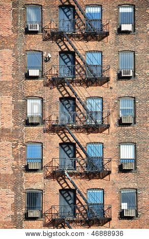 Fire escape, NYC poster