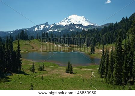 Snowcapped Mount Rainier