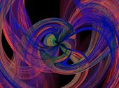 bright Flowing colorful abstract liquid burst background image poster