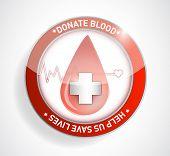 Donate blood. help us save lives illustration design poster
