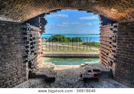 Window, Fort Jefferson At The Dry Tortugas National Park