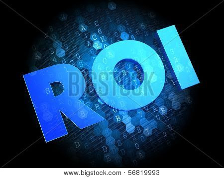 ROI on Digital Background.