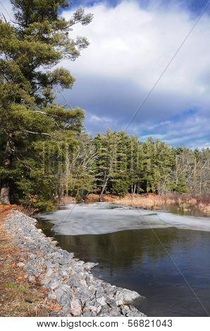 Ice On The Bantam River
