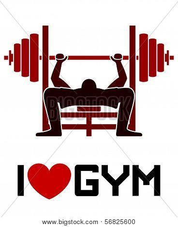 I Love Gym Symbol