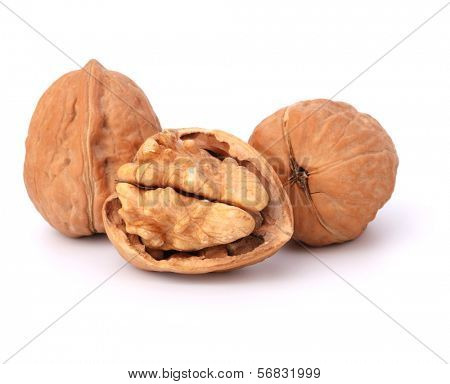 Walnut isolated on white background
