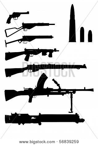 Various British Arms Of The Second World War