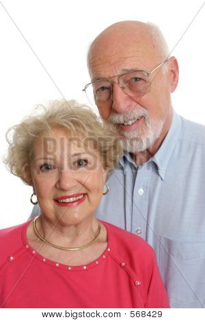 Senior paar samen verticaal