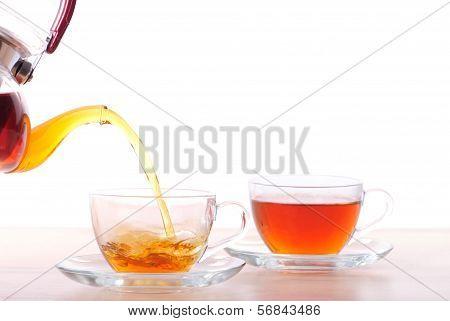 Pouting Tea From Teapot
