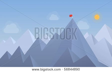 Flag On The Peak Illustration